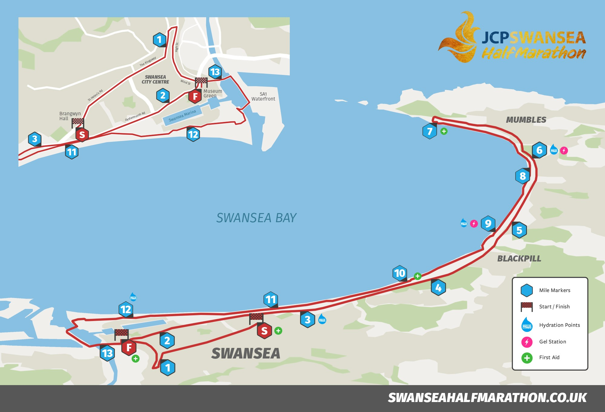 JCP Swansea Half Marathon Announce A Faster Flatter Route for 2018